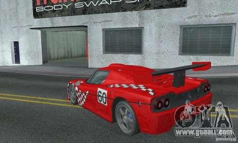 Ferrari F50 GT (v1.0.0) for GTA San Andreas back left view