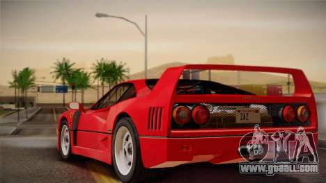 Ferrari F40 1987 for GTA San Andreas left view