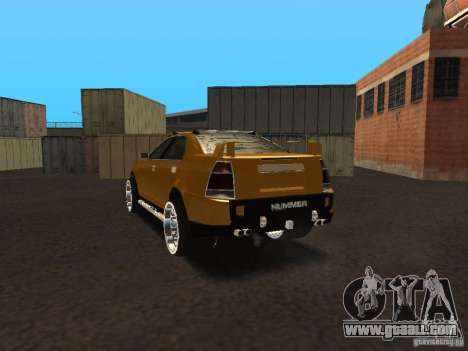 Hummer H0 for GTA San Andreas back left view