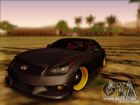 Infiniti G37 HellaFlush for GTA San Andreas