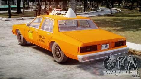 Chevrolet Impala Taxi v2.0 for GTA 4 right view