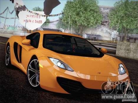 McLaren MP4-12C BETA for GTA San Andreas back view