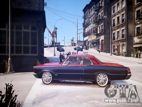 Pontiac GTO 1965 Custom discks pack 1 for GTA 4 left view