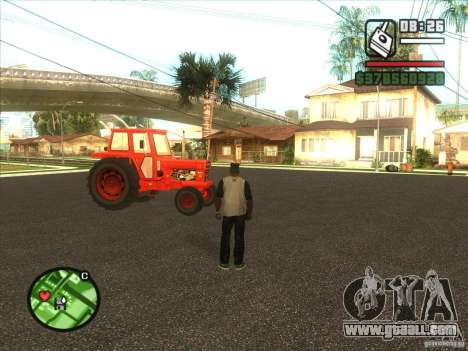 Tractor for GTA San Andreas back left view