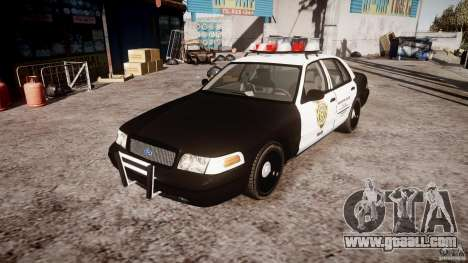 Ford Crown Victoria Raccoon City Police Car for GTA 4