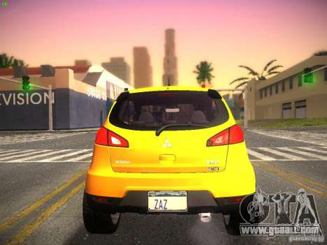 Mitsubishi Colt Rallyart for GTA San Andreas right view
