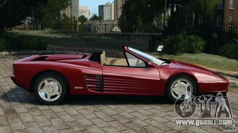 Ferrari Testarossa Spider custom v1.0 for GTA 4 left view