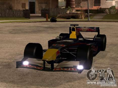 F1 Red Bull Sport for GTA San Andreas back view