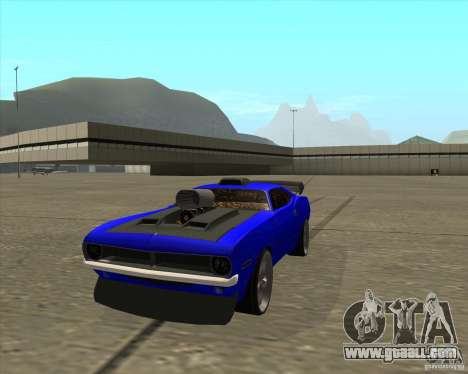 Plymouth Hemi Cuda from NFS Carbon for GTA San Andreas right view