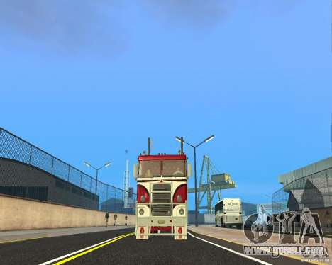 Kenworth K100 for GTA San Andreas back view