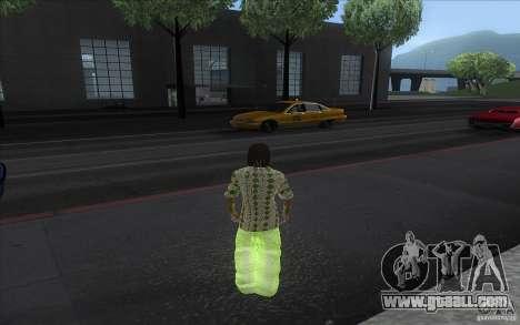 Rasta ped for GTA San Andreas second screenshot