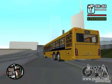 Maz 107.466 for GTA San Andreas back left view