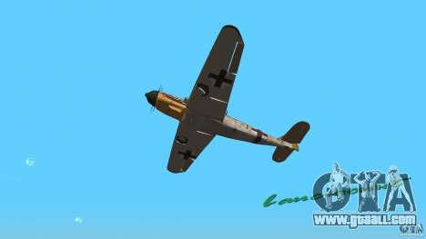 WW2 War Bomber for GTA Vice City back view