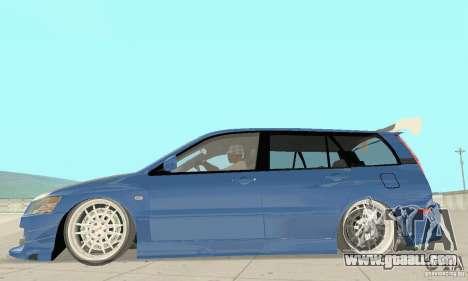 Mitsubishi Lancer Evolution IX Wagon MR Drift for GTA San Andreas back left view