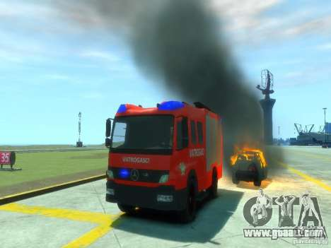 Mercedes-Benz Atego Fire Departament for GTA 4 upper view