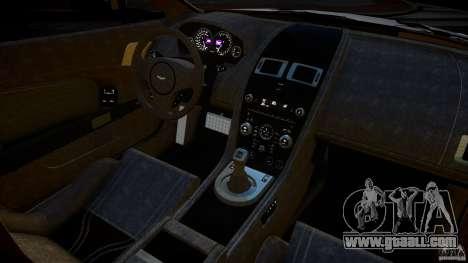 Aston Martin V12 Vantage 2010 for GTA 4 inner view