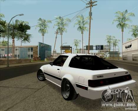Mazda RX-7 FB Race for GTA San Andreas back left view