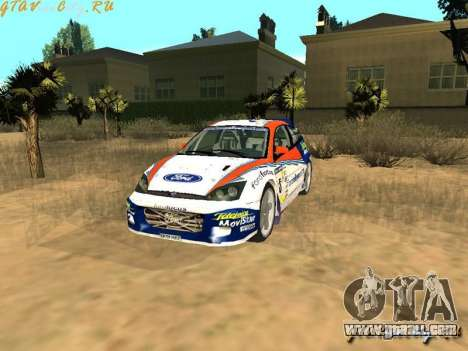 Ford Focus WRC 2002 for GTA San Andreas