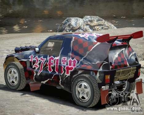 Mitsubishi Pajero Proto Dakar Vinyl 3 for GTA 4 back view