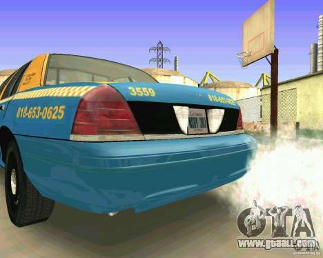 Ford Crown Victoria 2003 Taxi Cab for GTA San Andreas right view