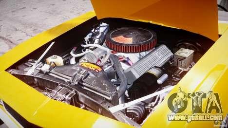 Chevrolet Camaro for GTA 4 inner view