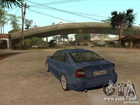 Subaru Legacy 3.0 R for GTA San Andreas back left view