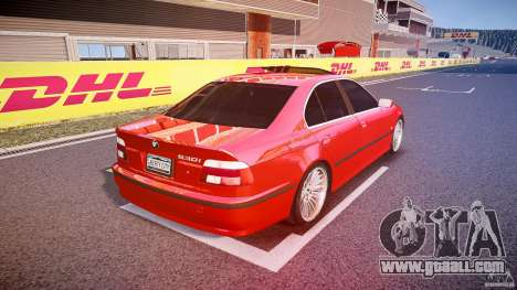 BMW 530I E39 stock chrome wheels for GTA 4 side view