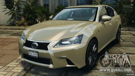 Lexus GS350 2013 v1.0 for GTA 4