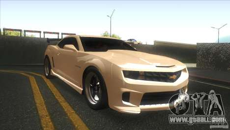 Chevrolet Camaro SS Dr Pepper Edition for GTA San Andreas inner view