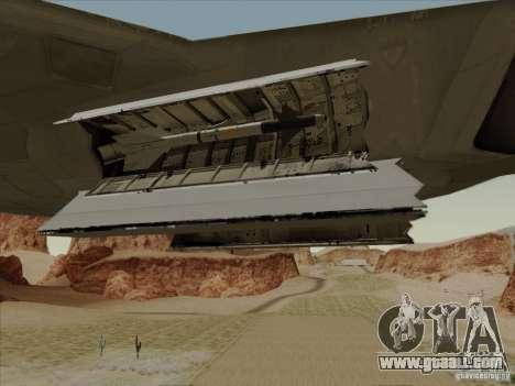 FA22 Raptor for GTA San Andreas upper view