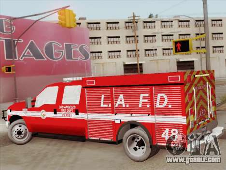 Ford F-350 Super Duty LAFD for GTA San Andreas side view