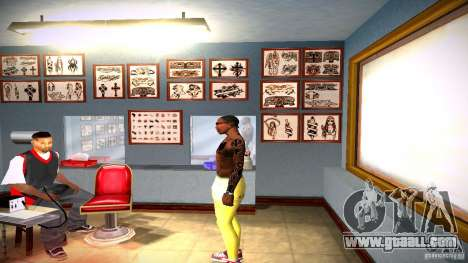 Three new tattoo for GTA San Andreas seventh screenshot