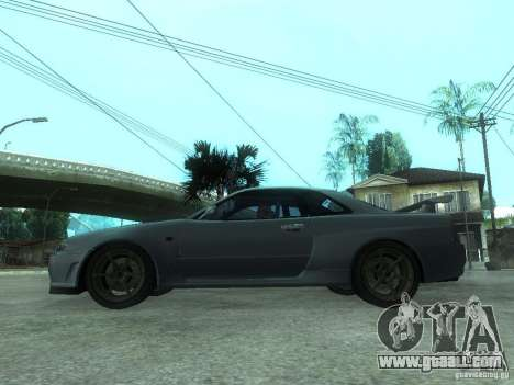 Nissan Skyline GT-R34 V-Spec for GTA San Andreas left view