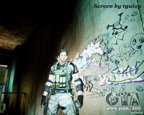 Chris from Resident Evil 5 for GTA 4
