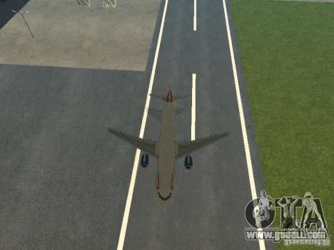 Airbus A320 British Airways for GTA San Andreas side view