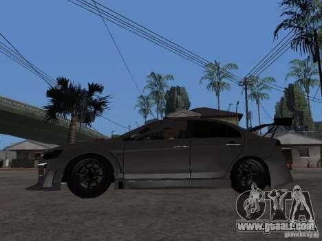Mitsubishi Lancer Evolution X Drift Spec for GTA San Andreas left view