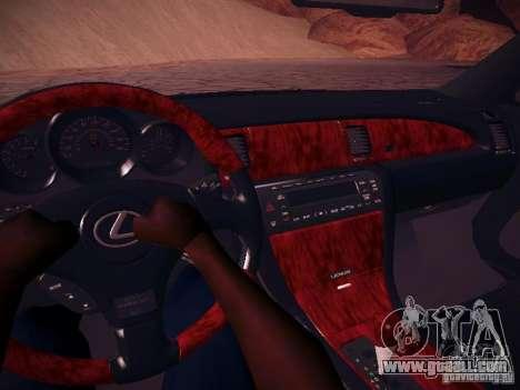 Lexus SC430 Daigo Saito for GTA San Andreas inner view