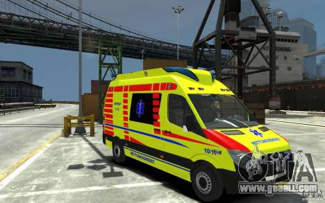 Mercedes-Benz Sprinter 2011 Ambulance for GTA 4 back view