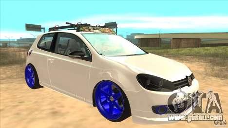 Volkswagen Golf MK6 Hybrid GTI JDM for GTA San Andreas back view