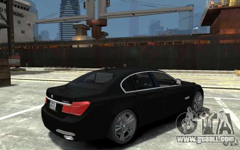 BMW 750i F01 v3 for GTA 4 right view