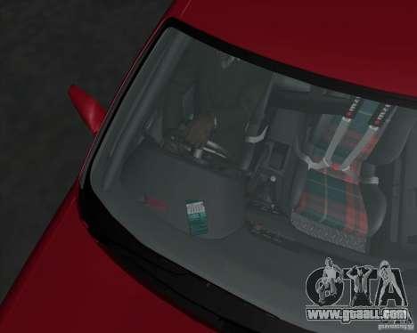 Nissan Skyline R32 for GTA San Andreas interior