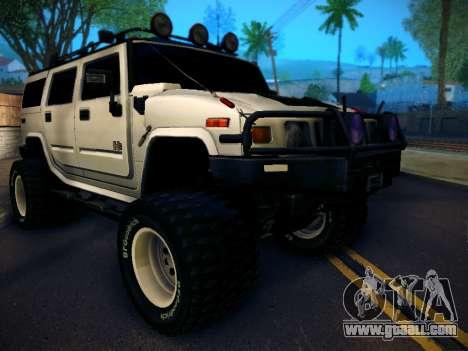 Hummer H2 Monster 4x4 for GTA San Andreas