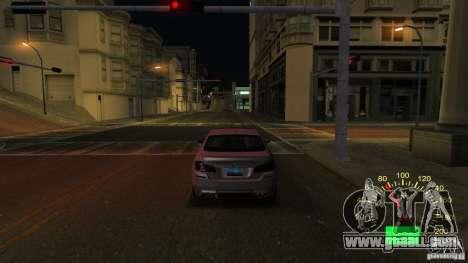 Speedometer of Lada 2110 for GTA San Andreas second screenshot