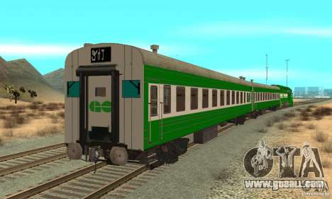 THE GO Transit Train for GTA San Andreas back left view