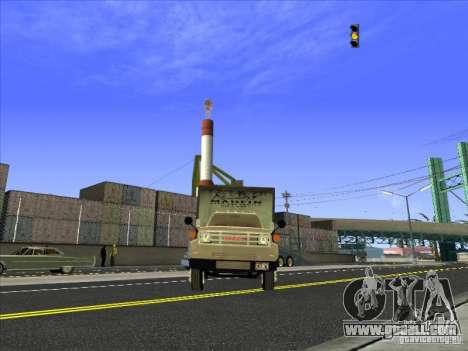 Yankee based on GMC for GTA San Andreas back view
