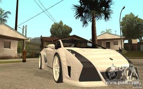 Lamborghini Gallardo MW for GTA San Andreas back view