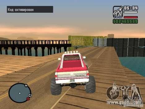 Monster tracks v1.0 for GTA San Andreas fifth screenshot