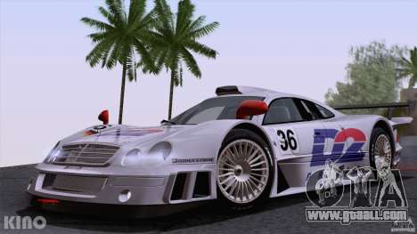 Mercedes-Benz CLK GTR Road Carbon Spoiler for GTA San Andreas side view