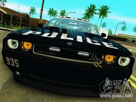 Dodge Challenger SRT8 2010 Police for GTA San Andreas left view