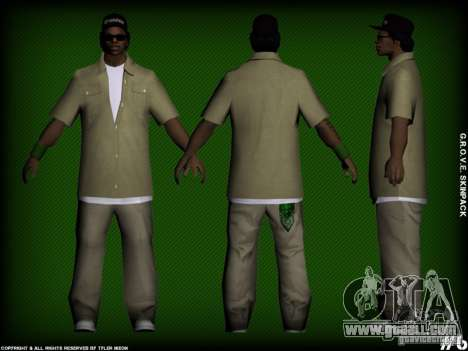 G.R.O.V.E. Skinpack for GTA San Andreas forth screenshot